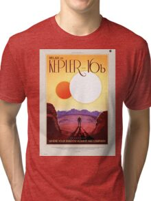 Kepler 16-b - NASA Travel Poster Tri-blend T-Shirt