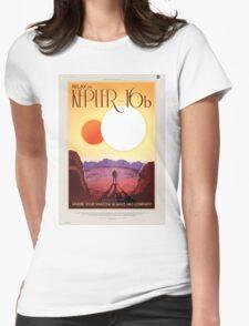Kepler 16-b - NASA Travel Poster Womens Fitted T-Shirt