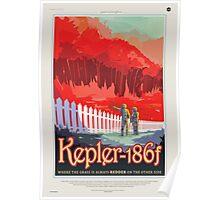 Kepler-186f - NASA Travel Poster Poster