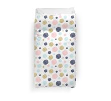 Watercolor and Glitter Dots Duvet Cover