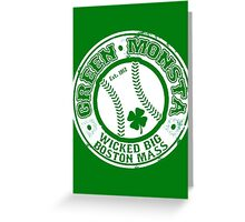GREEN MONSTA Greeting Card