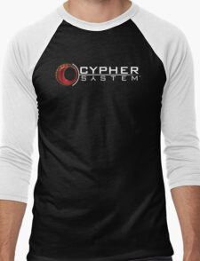 Cypher System Logo White-Unisex T-Shirts Men's Baseball ¾ T-Shirt