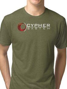Cypher System Logo White-Unisex T-Shirts Tri-blend T-Shirt