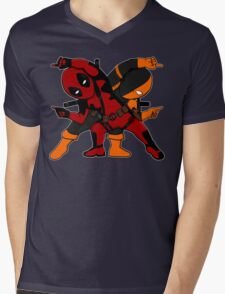 MERCFUSION Mens V-Neck T-Shirt