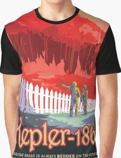 Retro NASA Space Poster - Kepler Graphic T-Shirt