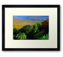 Saddle Canyon N W Arkansas Framed Print
