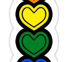 Pride Hearts LGBTQ Sticker