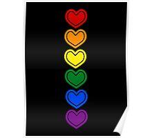 Pride Hearts LGBTQ Poster