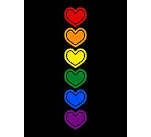 Pride Hearts LGBTQ Photographic Print