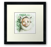 racoon child Framed Print