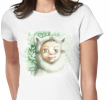 racoon child Womens Fitted T-Shirt