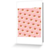 Pancake Pattern Greeting Card