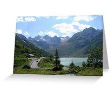 Majestic Mountain Lake Greeting Card