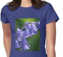 Violet-Blue English Bluebells Womens Fitted T-Shirt