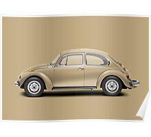 1975 Volkswagen Super Beetle - Harvest Gold Metallic Poster