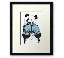 Panda Boxing Framed Print