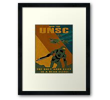Join the UNSC Framed Print
