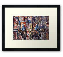 New York Broadway At Night - Oil Painting Framed Print