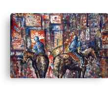 New York Broadway At Night - Oil Painting Canvas Print