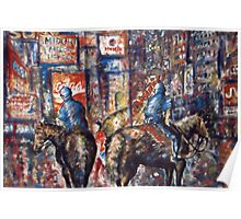 New York Broadway At Night - Oil Painting Poster
