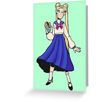 Sailor Moon Burger Baby Greeting Card
