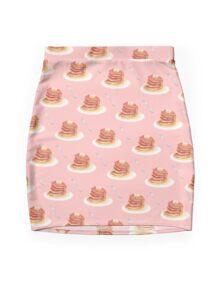 Pancake Pattern Mini Skirt