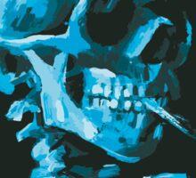 Van Gogh Skeleton in Sky and Pine Sticker