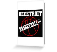 Deeetroit Basketball Greeting Card