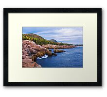 Acadia's Coast Framed Print