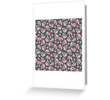 Pink rose pattern Greeting Card