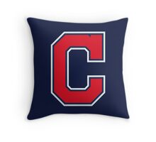 INDIANS CLEVELAND SIMPLE LOGO Throw Pillow