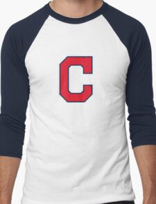 INDIANS CLEVELAND SIMPLE LOGO Men's Baseball ¾ T-Shirt