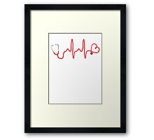 NURSE HEARTBEAT DESIGN Framed Print