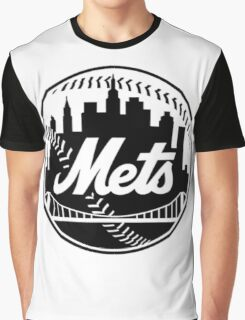 NY METS LOGO B/W Graphic T-Shirt