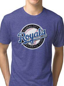 KANSAS CITY ROYALS LOGO Tri-blend T-Shirt