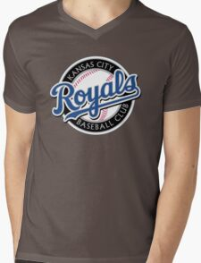 KANSAS CITY ROYALS LOGO Mens V-Neck T-Shirt