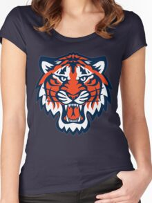 THE DETROIT TIGERS Women's Fitted Scoop T-Shirt