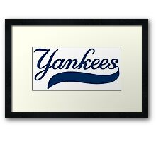 NY YANKEES SIMPLE Framed Print