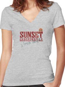 Sunset Sarsaparilla Women's Fitted V-Neck T-Shirt