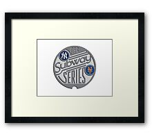 MLB SUBWAY SERIES Framed Print