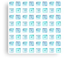 Watercolor pattern square Canvas Print
