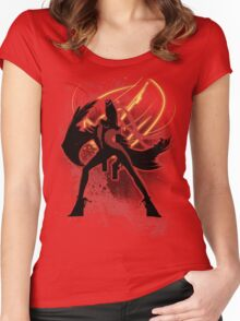 Super Smash Bros. Red Bayonetta (Original) Silhouette Women's Fitted Scoop T-Shirt