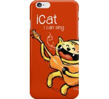 iCat - I can sing (reds) iPhone Case/Skin