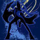 Super Smash Bros. Blue Bayonetta (Original) Silhouette by jewlecho