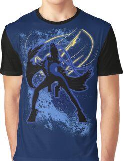 Super Smash Bros. Blue Bayonetta (Original) Silhouette Graphic T-Shirt