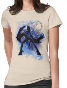 Super Smash Bros. Blue Bayonetta (Original) Silhouette Womens Fitted T-Shirt
