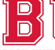 SBU & Stony Brook University - ATHLETIC/BRIGHT RED Sticker