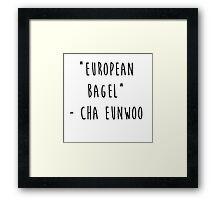 European Bagel Framed Print