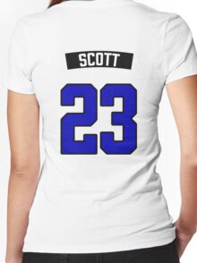 Nathan Scott 23 Jersey Women's Fitted V-Neck T-Shirt