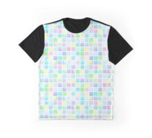 Watercolor square pattern Graphic T-Shirt